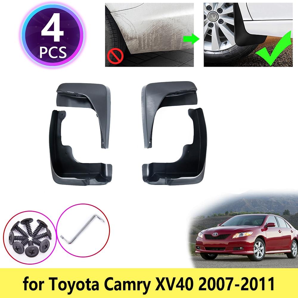 4 PCS for 2007-2011 Toyota Camry XV40 Mud Flap Splash Guards Fender Mudguard