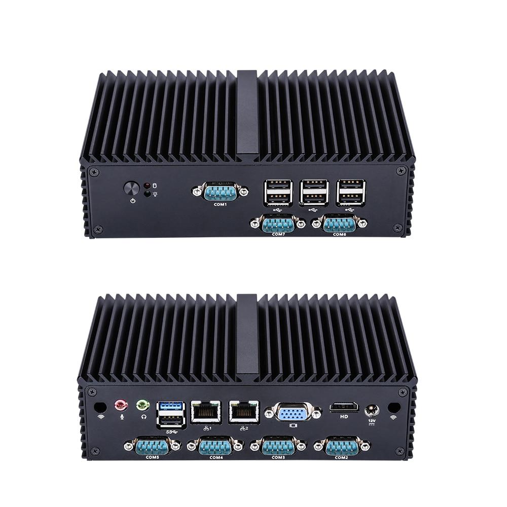Q Series Industrial Fanless Mini PC Win10 Core I7 I5 I3,Q180X/Q190X 6*COM USB Micro Computer Linux