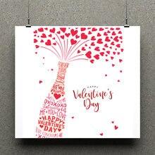 Прозрачный штамп zhuoang на День святого Валентина резиновый