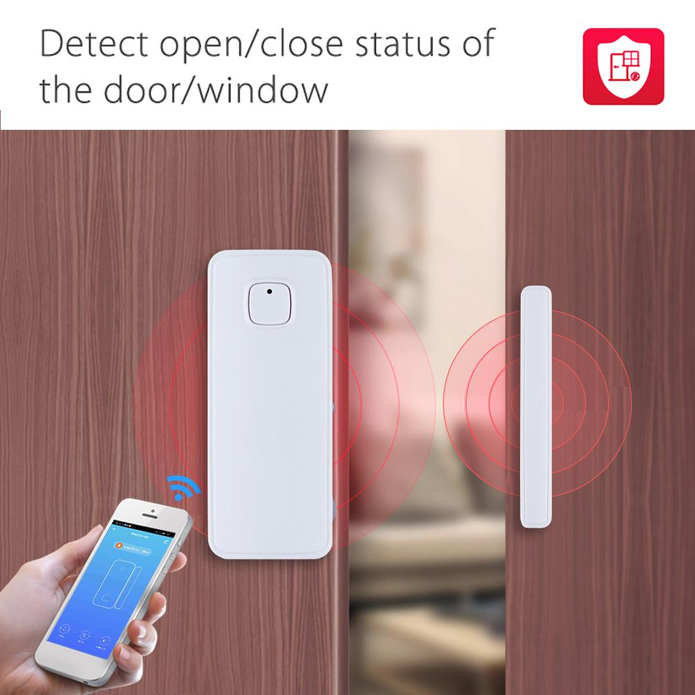 Door Window Sensor WiFi Smart Door Magnetic Mobile Phone App Security Detection Conveninently And Simple Installation