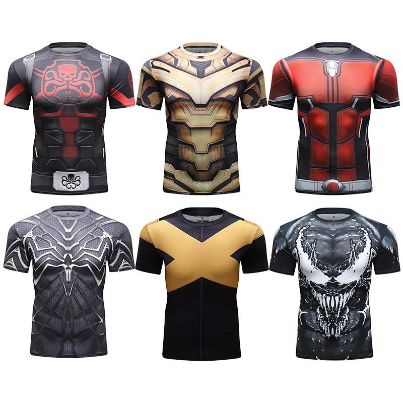 MMA Compression T-Shirt Men 3D Printed Rashguard Jiu Jusit T Shirts Short Sleeve Bjj Boxing Muay Thai Tops For Male MMA Clothing