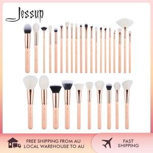 Image 1 - Jessup brushes 30PCS Makeup brushes set Beauty tools Cosmetic kits Make up brush POWDER FOUNDATION EYESHADOW BLUSH