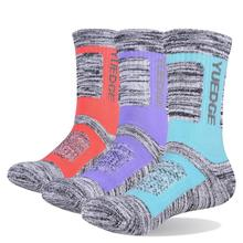 YUEDGE Ladies Cushion Cotton Crew Socks Comfortable Breathable Fashionable Cute Casual Sports (3 Pairs / Pack)