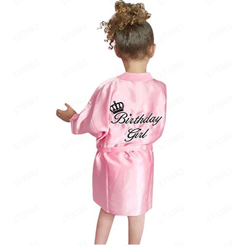 Children's Bathrobe Letters Pattern  Nightgown Pajamas Sleepwear Night Dress Gown Robes For Girls