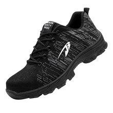 SAGACE, пара модных кроссовок для мужчин, новинка, вязаная защитная обувь, анти-разбивающаяся, анти-пирсинг, рабочая обувь, предотвращение наводнений, повседневная обувь