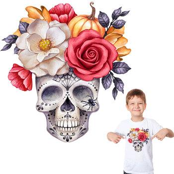 Głowa czaszki naprasowanki kwiatowe naklejki naprasowane ubrania moda przenikania ciepła akcesoria zrób to sam żelazko tanie i dobre opinie Colife CN (pochodzenie) as picture show HANDMADE Przyjazne dla środowiska PRINTED Plastry Do przyprasowania 1125NDZ6567