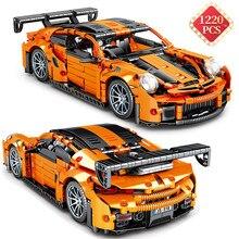 Criador de corrida carro stem blocos de construção kit especialista tijolos super corrida simulação carro tráfego veículo modelo brinquedos crianças presente