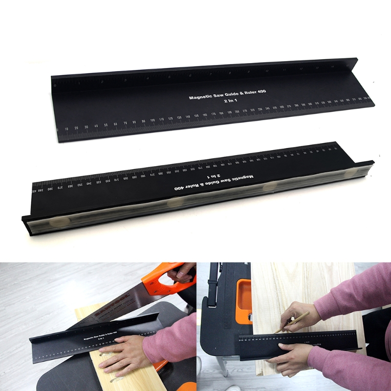 Multifunctional Protective Ruler Aluminum Alloy Marking Triangle Measurement for Carpenter Safe Cutting