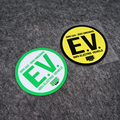 Защита окружающей среды Смешные нулевые выбросы газа 100% электроэнергия автомобиля Авто Стайлинг наклейки