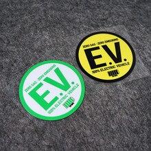 Proteção ambiental engraçado zero emissões de gás 100% energia elétrica veículo auto estilo do carro adesivo decalques