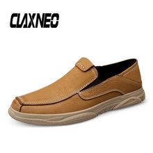 Buy CLAXNEO Man Shoes Genuine Leather Summer Autumn Male Loafers Casual Shoe Slip on Breathable Men's Leather Footwear directly from merchant!