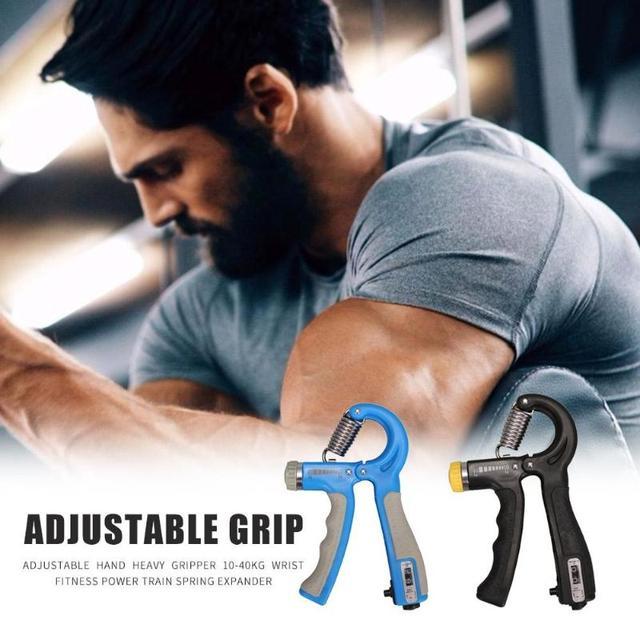 10-40kg Adjustable Heavy Gripper Hand Grip Strengthener Gym Power Fitness Exerciser Wrist Strength Training Spring Expander 6