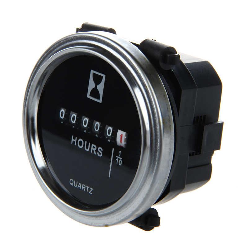 Medidor da hora 6 a 80 volts dc-anel prateado redondo da guarnição