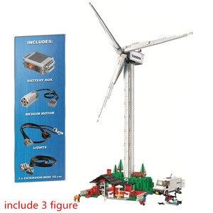 Creador de expertos Vestas de turbina de viento Kit de bloques de construcción ladrillos clásico película Ideas ciudad técnica modelo chico juguetes para niños de regalo
