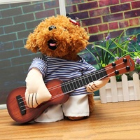 Dogs Play The Guitar Halloween Christmas Special Events Costume Novelty Funny Pet Party Cosplay Apparel Outfit Clothing