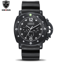 Top Brand Watch Men Automatic Self Wind Mechanical Stainless Steel Multifunction Watch Month 24 hours date Watch Silicone Strap