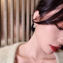 Корейские простые женские очаровательные серьги гвоздики в форме