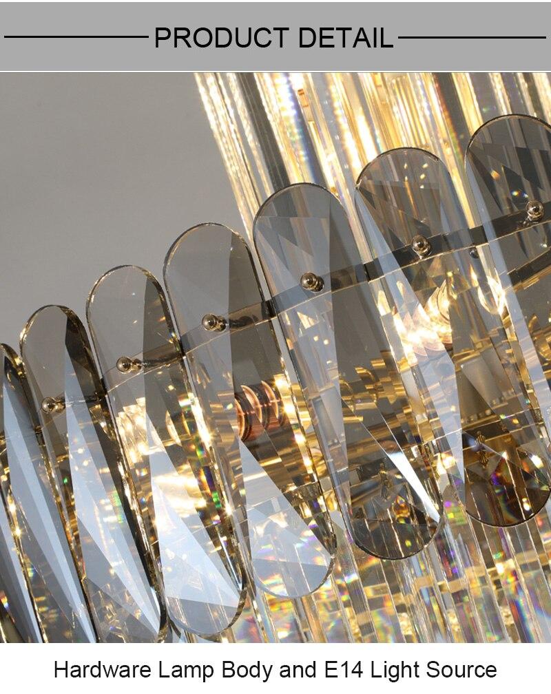 Lustres de cristal luxo moderno iluminação brilho