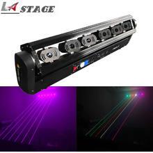 DJ Laser 6 oczu drążek led Fat Beam Laser RGB 500mw DMX ruchoma głowica światło laserowe