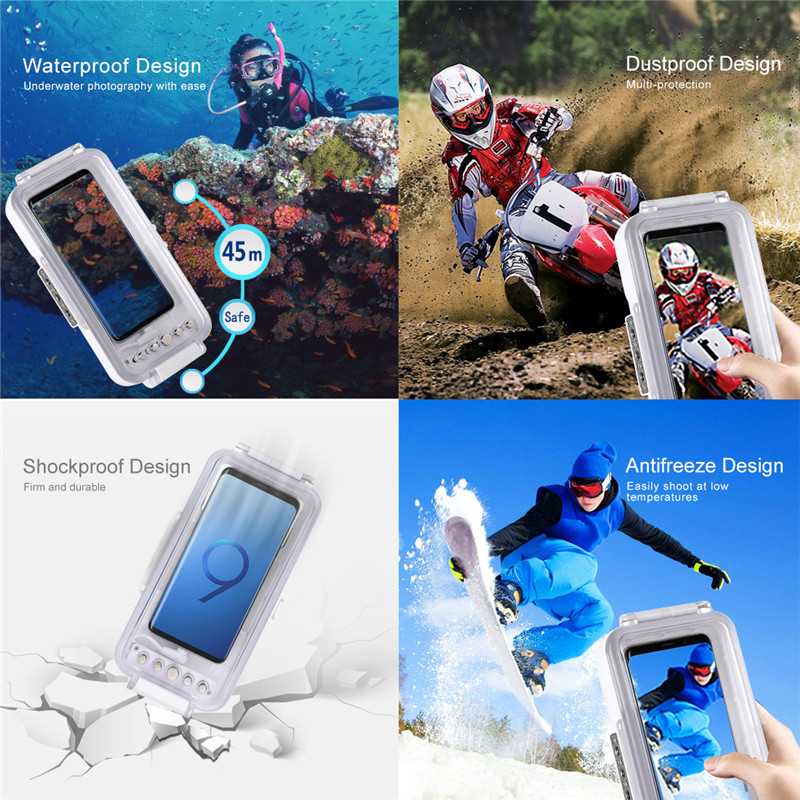 45m Waterproof Diving Photo Video Taking Underwater Cover for Galaxy Huawei Xiaomi Google Android OTG Phone with Type C Port - 3