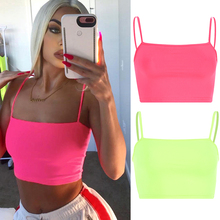 2020 Newly Fashion Sexy Vest Solid Slim Sport Vest Women Par