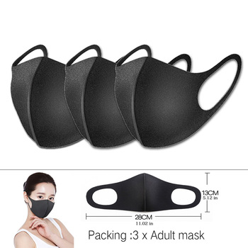 50/10pcs Washable Reusable Unisex Masks Black Anti Dust Mouth Mask Anti-haze Anti-fog Face Cover Outdoor Protection