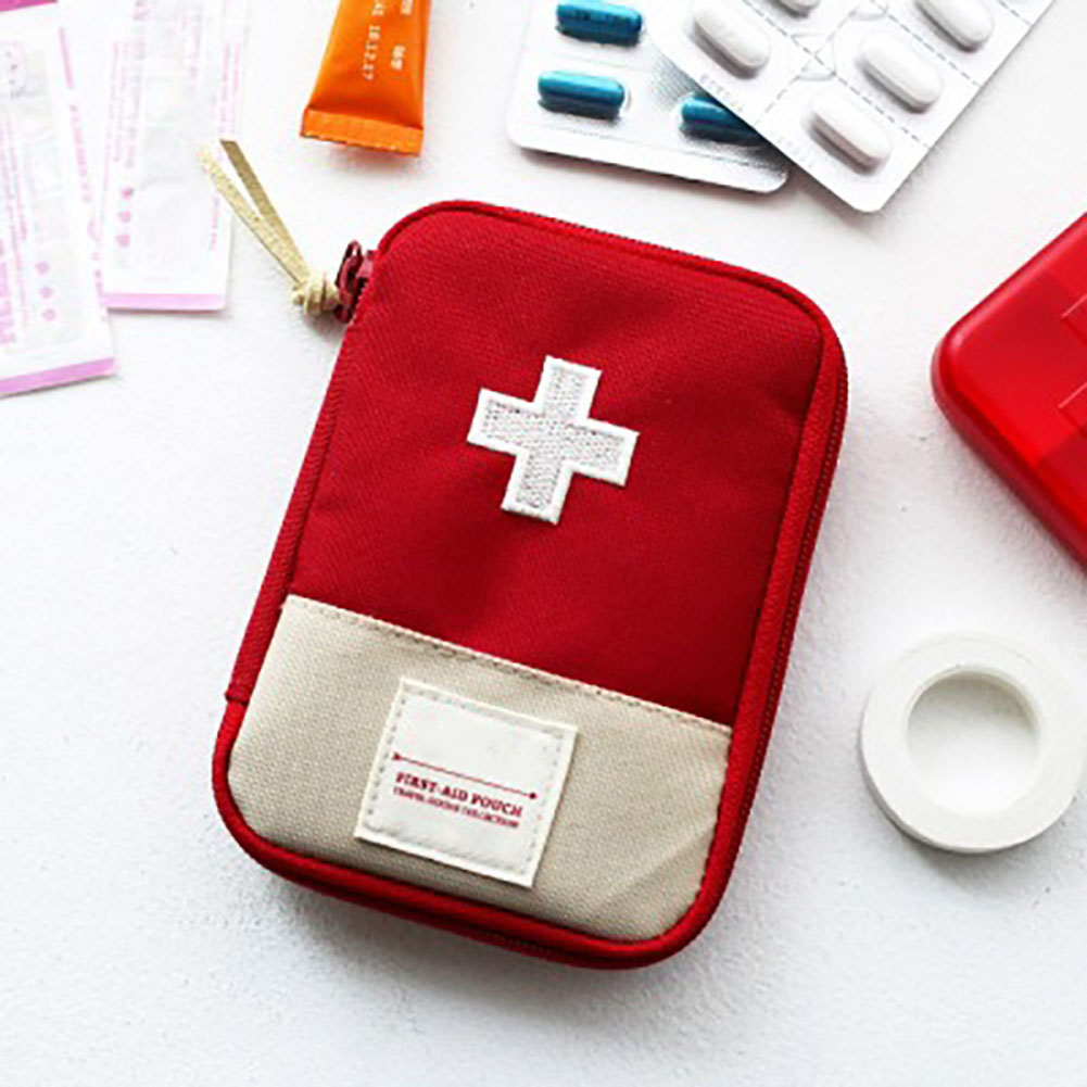 Empty First Aid Bag Emergency Pouch Travel Medicine Pill Storage Bags Outdoor Survival Organizer THIN889