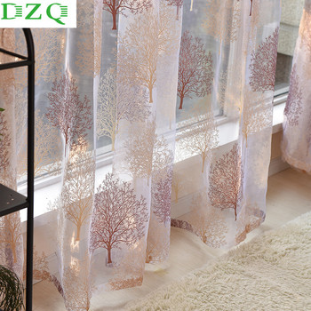 Modern Tulle Window Curtains for Living Room Bedroom Kitchen Window Sheer Curtains Home Decor Voile Curtains Panel Drape princess style 100% cotton curtains elegant white lace curtains sheer tulles for girl s room window door sheet screen home decor