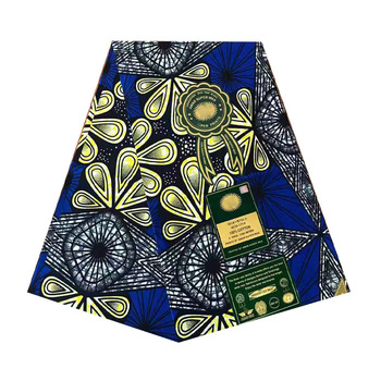 2019 The lastest design african wax prints in fabric ankara pagne dutch block wax woman 100% cotton 6yards/piece soft V-L 703