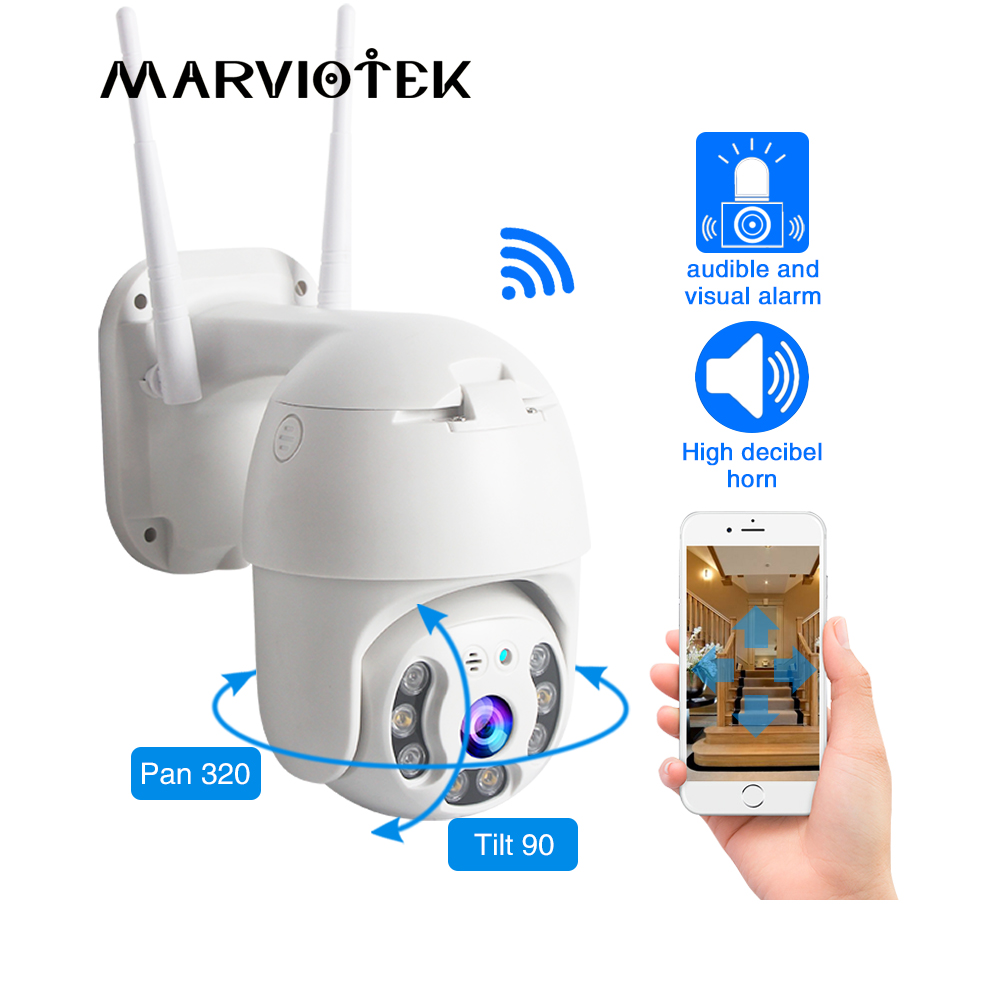 Wirless PTZ Speed Dome IP Camera Wifi Outdoor 1080P Two Way Audio Security Camera Network Video Surveillance Wifi CCTV Camera