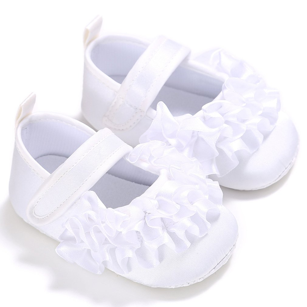 NEWest Cute Toddler Baby Girl Crib Flower Princess Shoes Solid Color Infant Soft Sole Fashion Prewalker Kid Shoes 0-18 Month