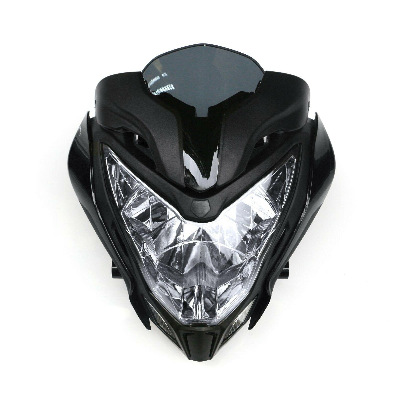Motorcycle HeadLight Assembly Headlamp+Fairing Black Fit For BAJAJ PULSAR150 200