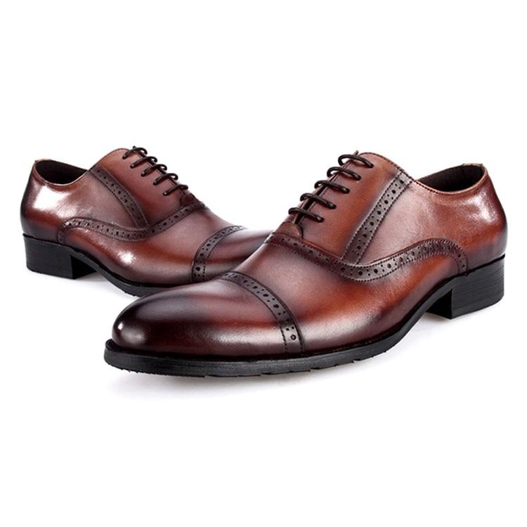 Wincheer 2019 Luxe Mannen Jurk Lederen Schoenen Plus Size Lace Up Business Casual Schoenen Mannen Formele Bruiloft platte Schoenen - 5