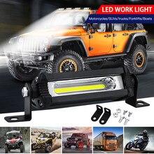 SUHU 18W 12V/24V oświetlenie robocze COB żarówka Spot Beam Bar samochód SUV Off Road jazdy lampa przeciwmgielna 6000K biały LED Work Light lampka punktowa