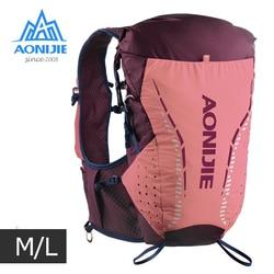 ML tamaño AONIJIE C9104 al aire libre Ultra chaleco 18L hidratación mochila paquete bolsa de agua suave vejiga matraz Trail Running Marathon Race