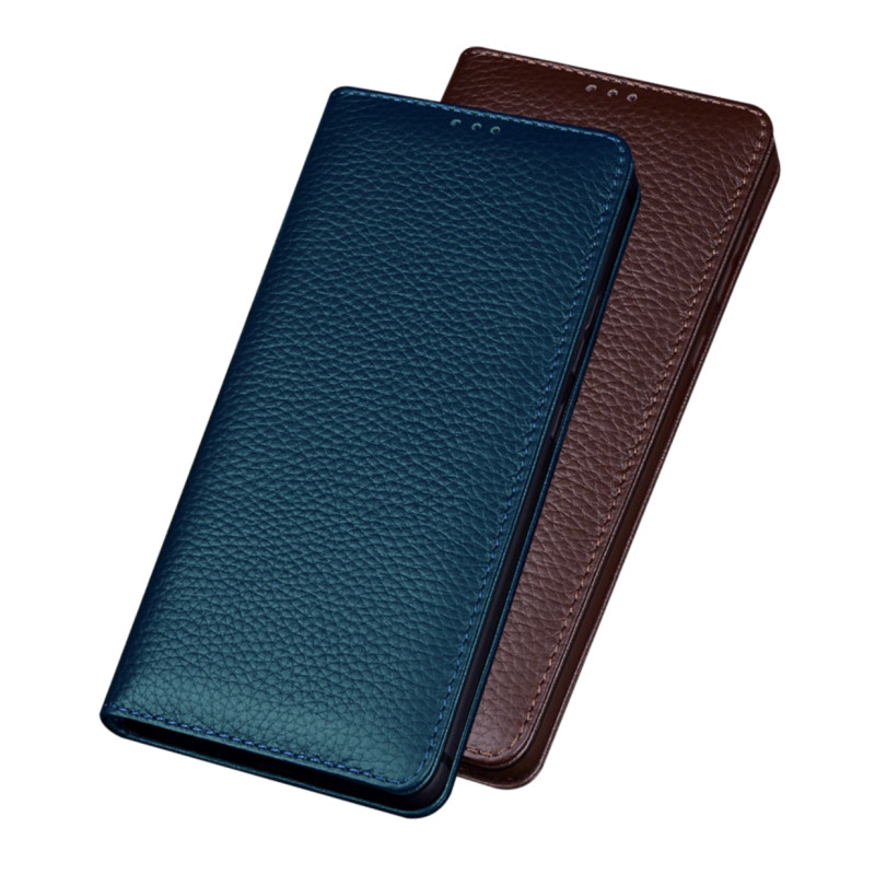 Genuine leather magnetic lock kick stand phone case for Nokia 9 PureView/Nokia 8 Sirocco/Nokia 8/Nokia 8.1 holster cover case