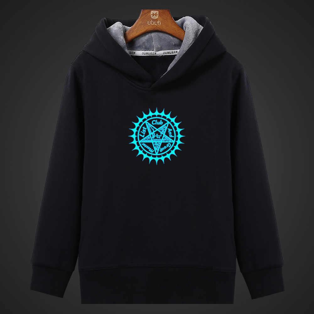 Fluorescerende Anmie Black Butler Lichtgevende Hoodies Mannen Hooded Sweater Streetwear Winter Fleece Warm Tops Unisex Plus Size Jas