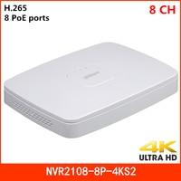 Dahua 8 Channel Smart 1U 8 PoE Ports 4K H.265 Network Video Recorder NVR2108 8P 4KS2 Lite 1 HDD Up to 8Mp Resolution NVR