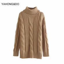 Women Turtleneck Sweater 2019 New Fashion Solid Knitted High Quality Pullover Femme Winter Thick Harajuku