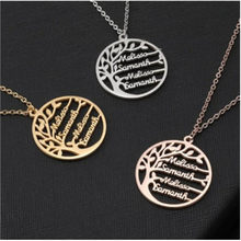 Customized Name Hot Statement Family Tree Necklace For Women Kids Gold Color Stainless Steel Personalized Jewelry Men Christmas(China)