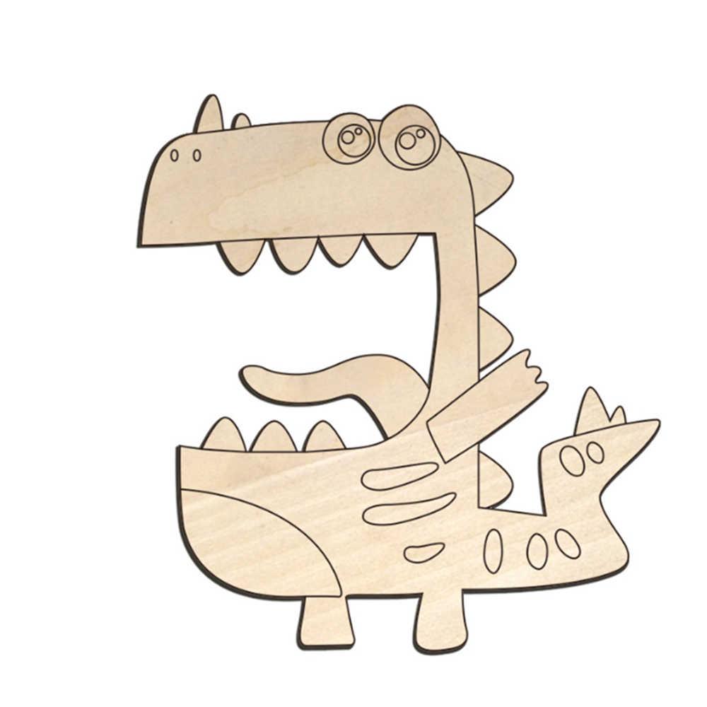 คู่มือภาพวาดสัตว์รูปร่าง DIY ไม้ Graffiti BOARD ของเล่นเพื่อการศึกษาเด็กการเรียนรู้ของเล่นสำหรับของขวัญเด็ก