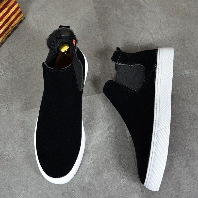 de couro genuíno preto plataforma apartamentos sapatos