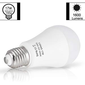Image 3 - Bombillas LED E27 E26, 150W equivalentes a 17W, lámpara rosca Edison, Blanco cálido/frío, 6000K, superbrillante, 1600Lm, ahorro de energía, 4 paquetes