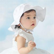 Chapéu de sol chapéu de algodão adorável do bebê menina chapéu de sol verão ao ar livre crianças panamá boné infantil meninos meninas praia balde chapéus boné