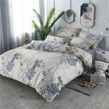 Juego de cama de crisantemo con plumón clásico elegante Floral Vintage King Queen juego de cama individual y doble