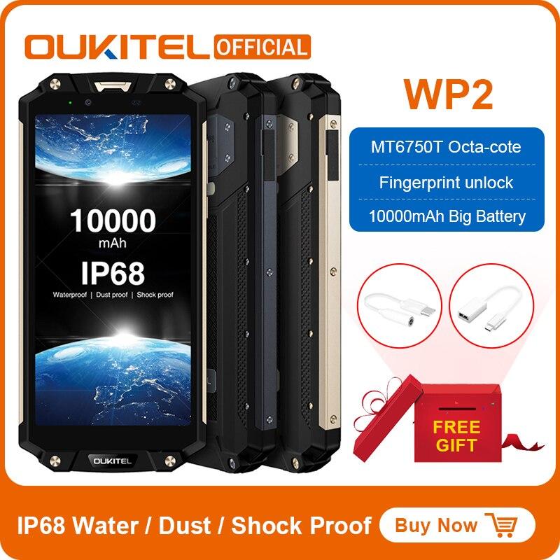 15883.06руб. 25% СКИДКА|OUKITEL WP2 смартфон с 6 дюймовым дисплеем, восьмиядерным процессором MT6750T, ОЗУ 4 Гб, ПЗУ 64 ГБ, 18:9 10000 мАч|Мобильные телефоны| |  - AliExpress