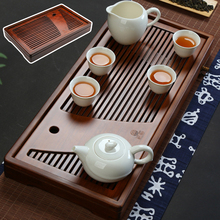 Natural Wooden Tea Tray High Quality Chinese Tea Table Tray Tea Set Board Drainage Water Storage Tea Tray Kitchen Accessories
