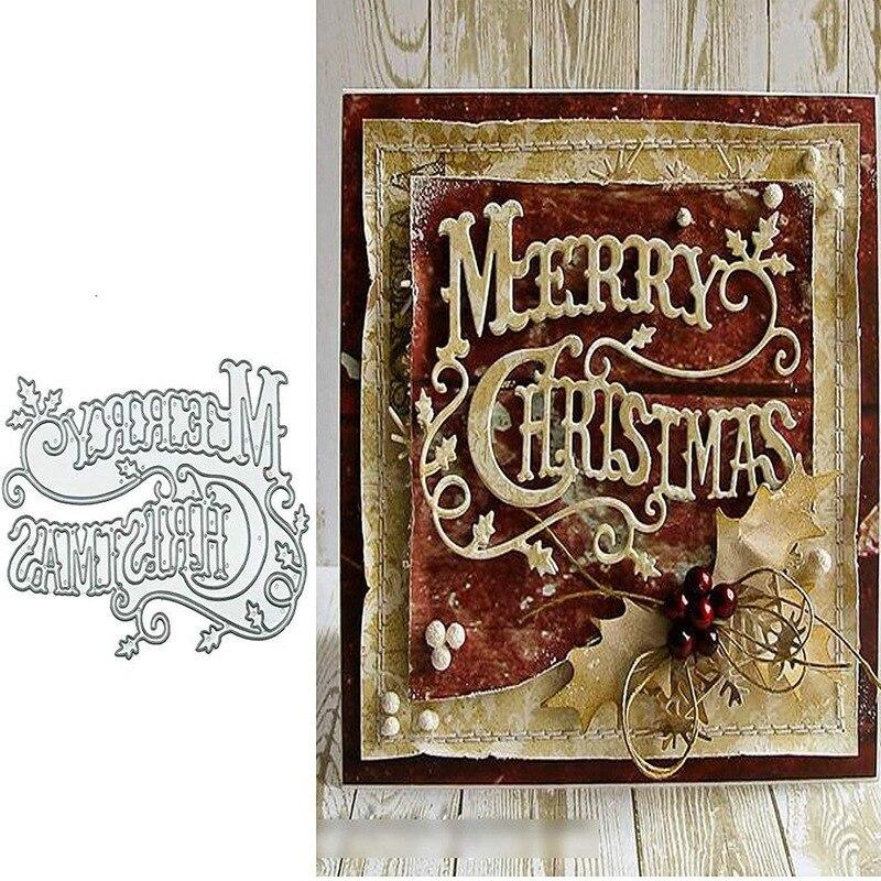 Merry Christmas Holly Leaves Metal Cutting Dies Scrapbooking Embossing Album DIY