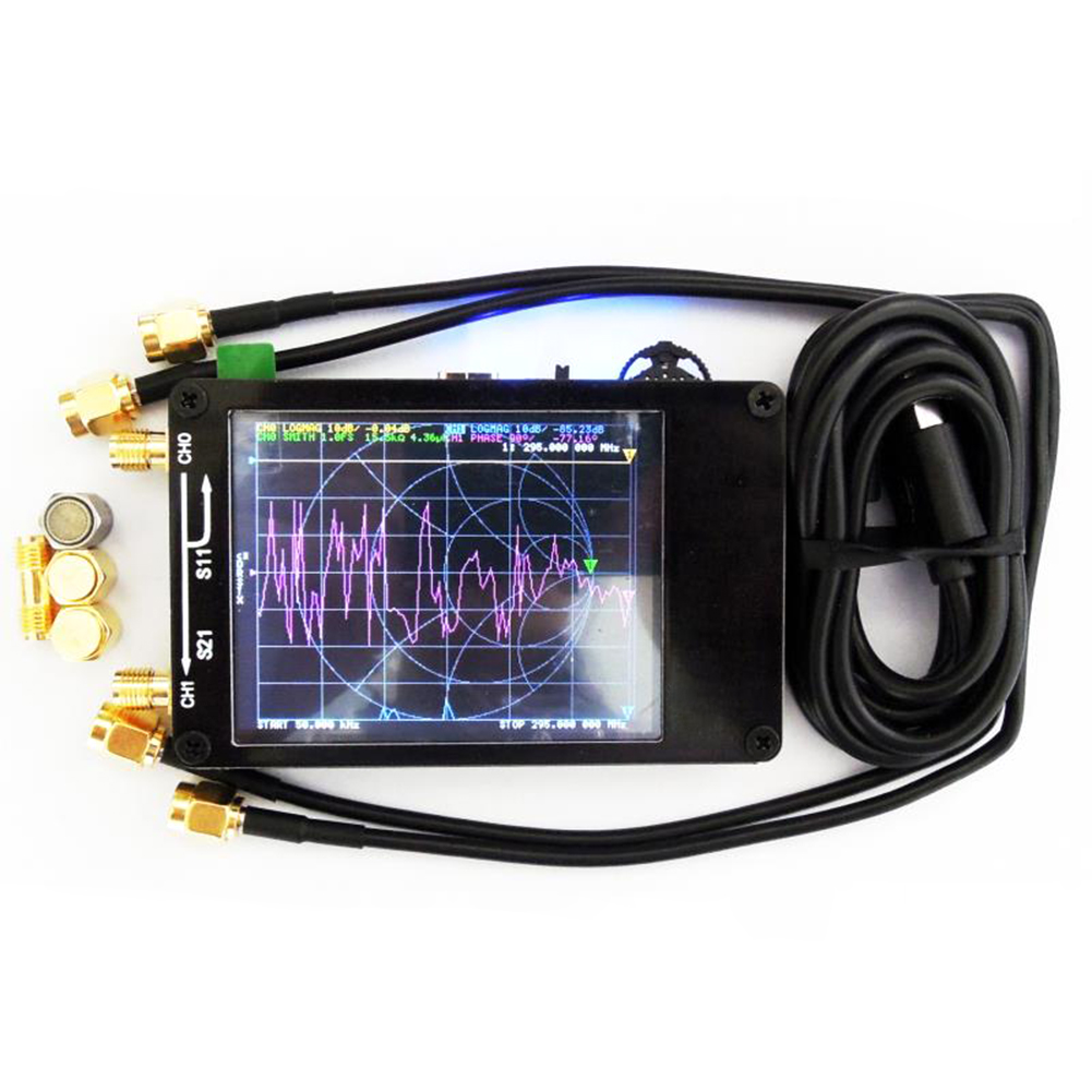 Genuine Original NanoVNA NanoVNA-H Vector Network Antenna Shortwave Analyzer MF HF VHF UHF Genius 50KHz~1.5GHz 2.8