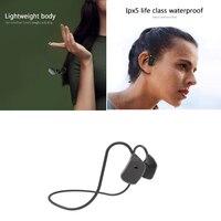 2021 neue Knochen Leitung Bluetooth Kopfhörer X5 Wasserdicht Sweatproof Mit 16G Speicher Mic Headset-Stereo-Kopfhörer